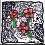 fiori scarabocchio zen