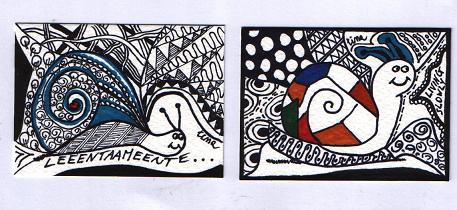"""Artist trading Cards """"Giornata della Lentezza"""""""
