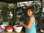 Mamma and tomatoes