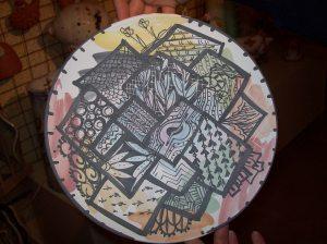 scarabocchio zen in ceramica
