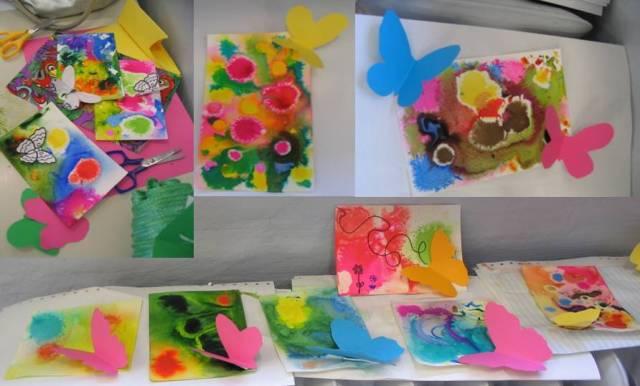 Farfalle in volo acquerelli di primavera con le chine - Pagine da colorare per le farfalle ...
