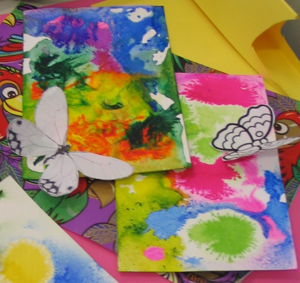 Farfalle in volo acquerelli di primavera con le chine - Poesie primaverili per la scuola materna ...