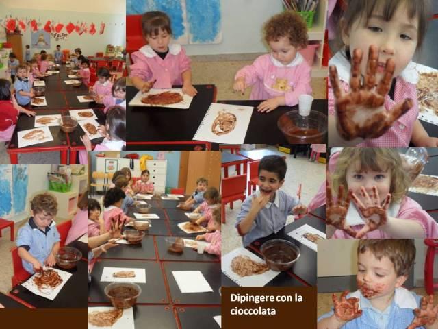 Dipingere con la cioccolata