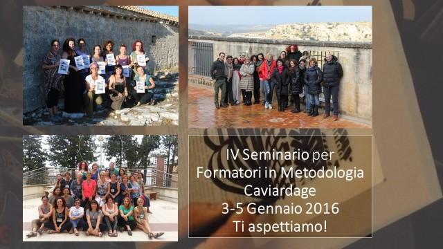 IV Seminario per Formatori in Metodologia Caviardage