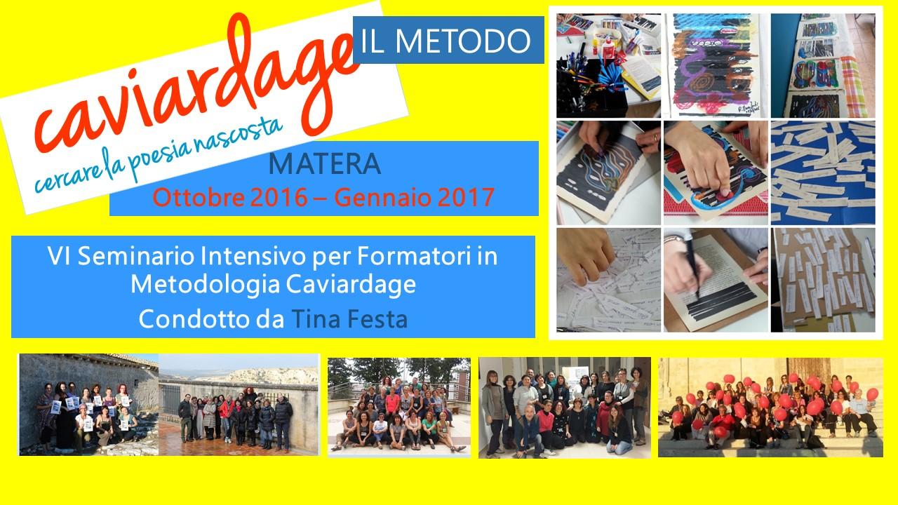 Seminario per formatori in Metodo Caviardage VI Edizione – Matera
